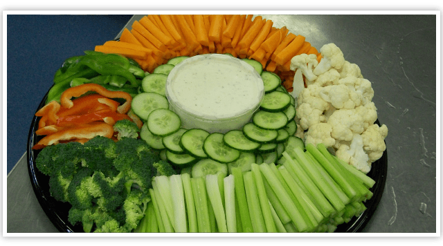 Full vegetable tray